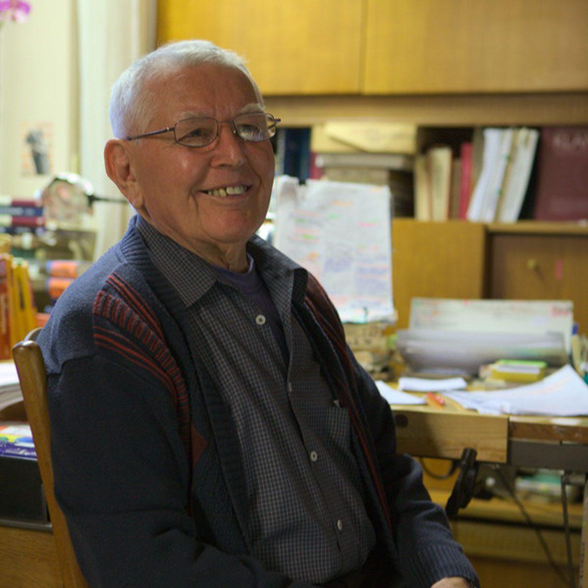 Joseph W. Manger op zijn 87e verjaardag