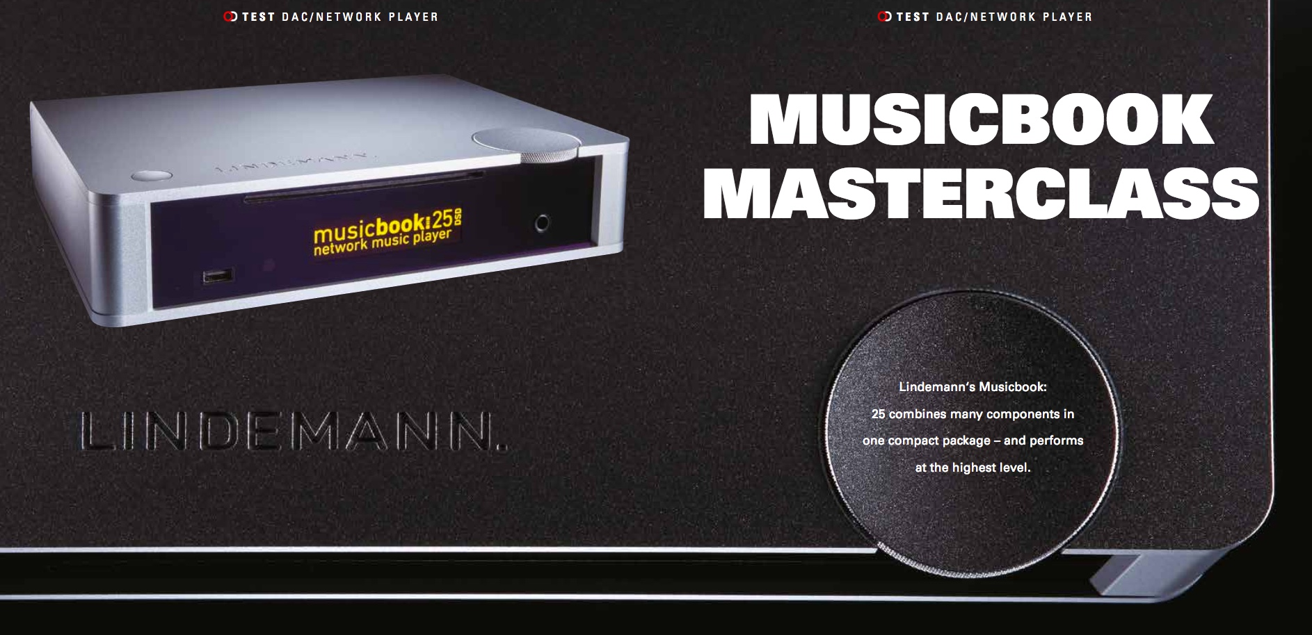 Review Lindemann musicbook 25 in Stereo