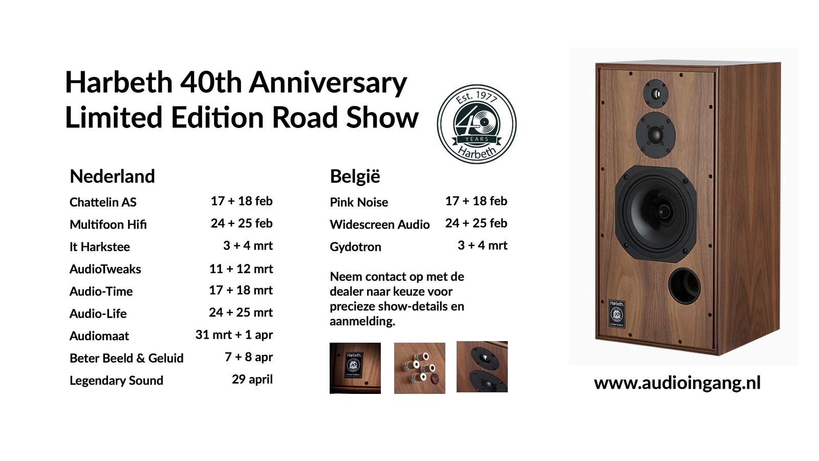 40th Anniversary Limited Edition road show