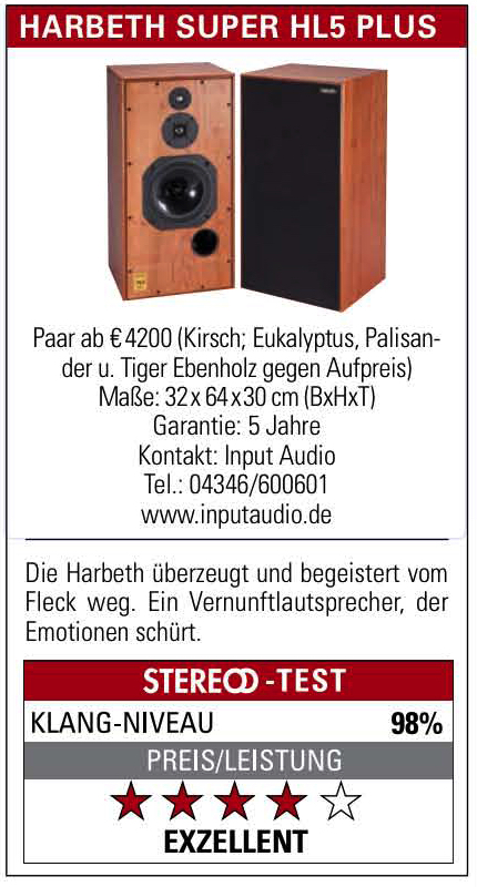 Duitse Stereo test Harbeth SH5plus