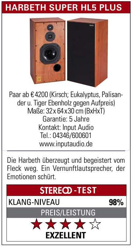 Duitse Stereo test Harbeth SH5plus