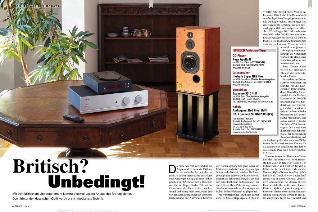 Duitse Stereo test Harbeth SHL5 plus