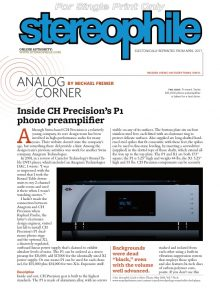 Stereophile review CH Precision P1
