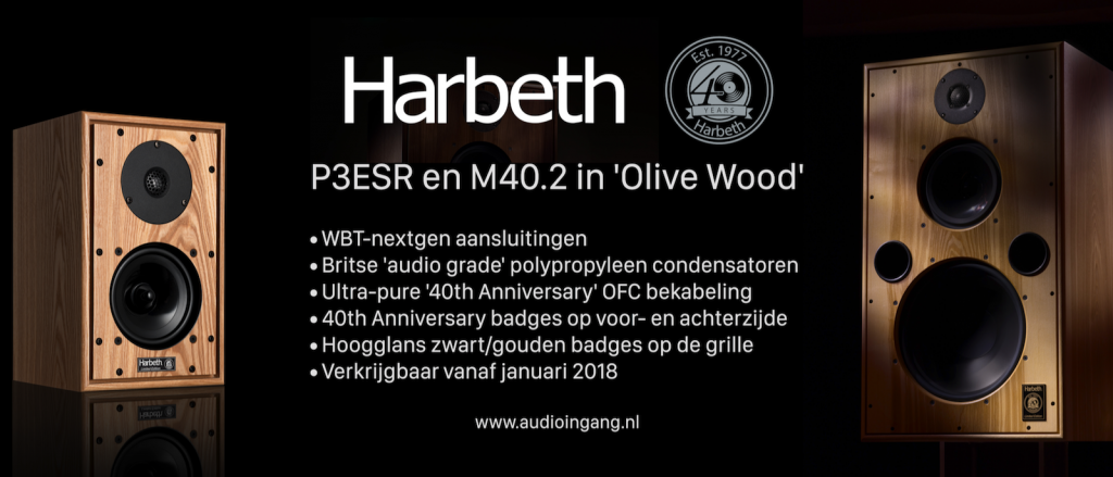 Harbeth P3ESR en M40.2 40th Anniversary
