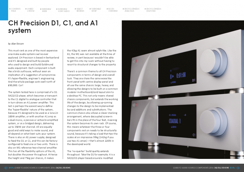 Hifi Plus test CH Precision D1, C1, A1