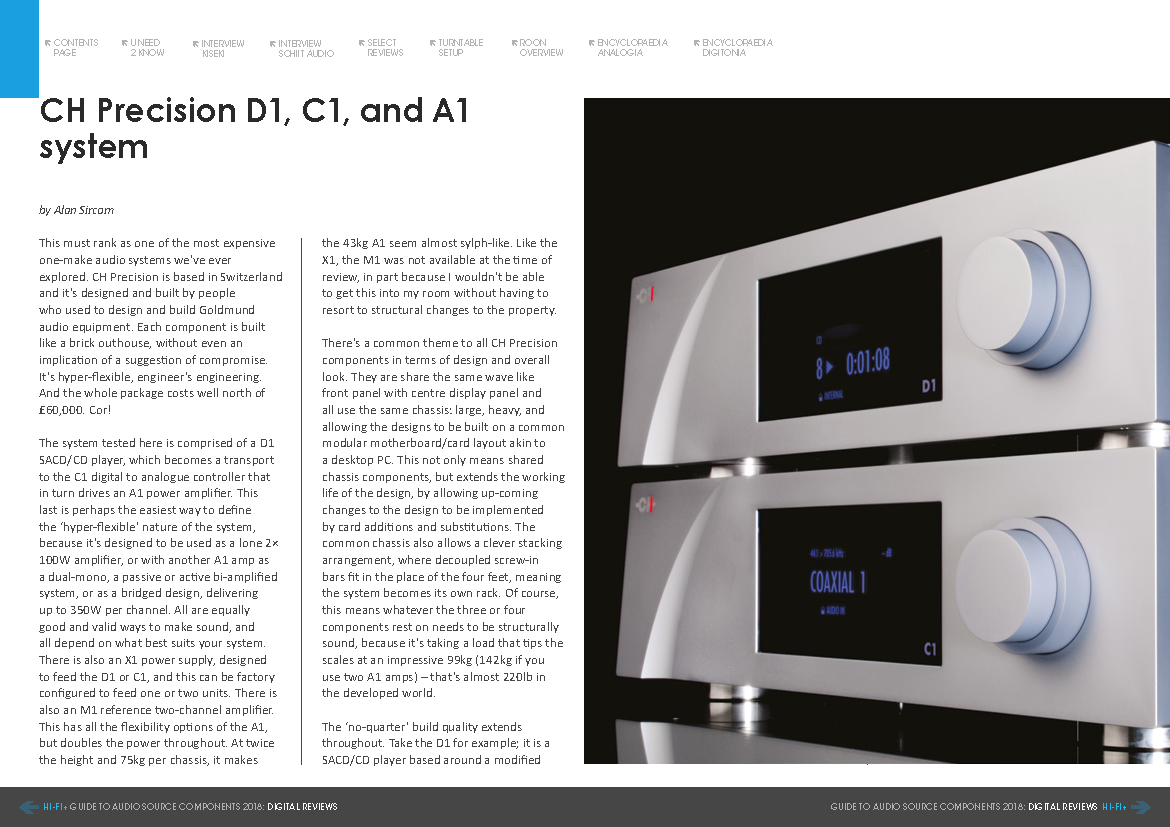 Hifi Plus test CH Precision D1, C1, A1