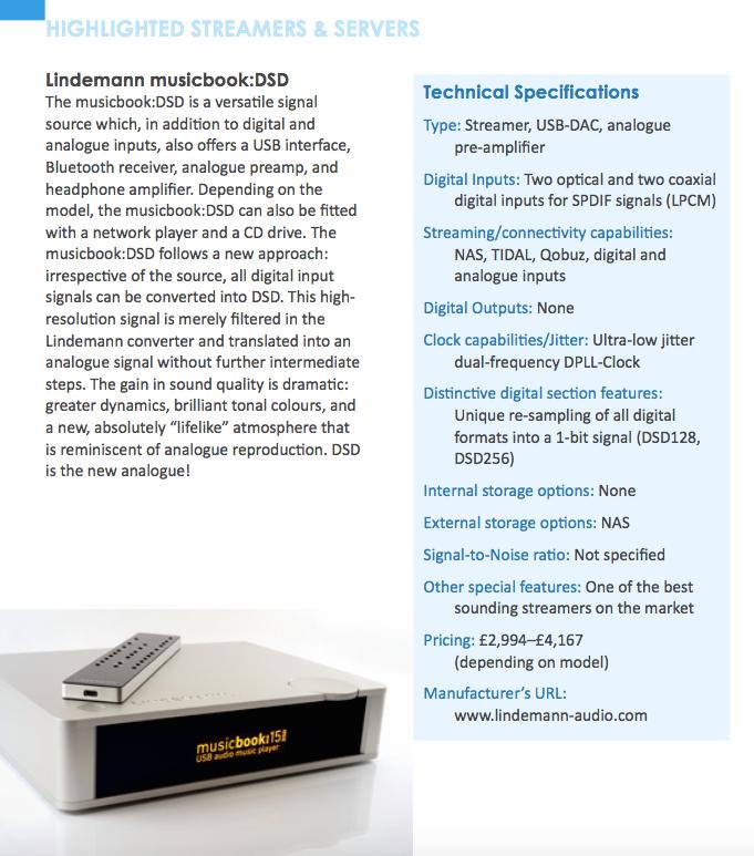 Lindemann musicbook:25 DSD - Hifi Plus 'Highlighted Streamer'