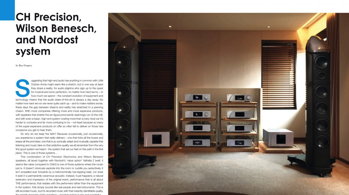 Hifi Plus test Wilson Benesch Resolution en CH Precision L1, P1, X1, M1