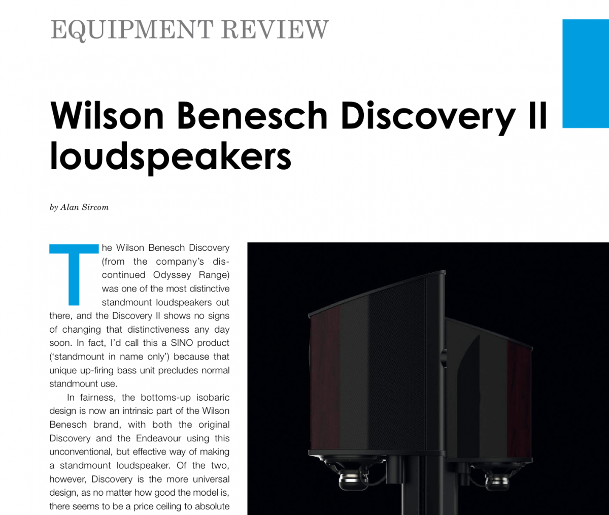 Hifi Plus test Wilson Benesch Discovery II