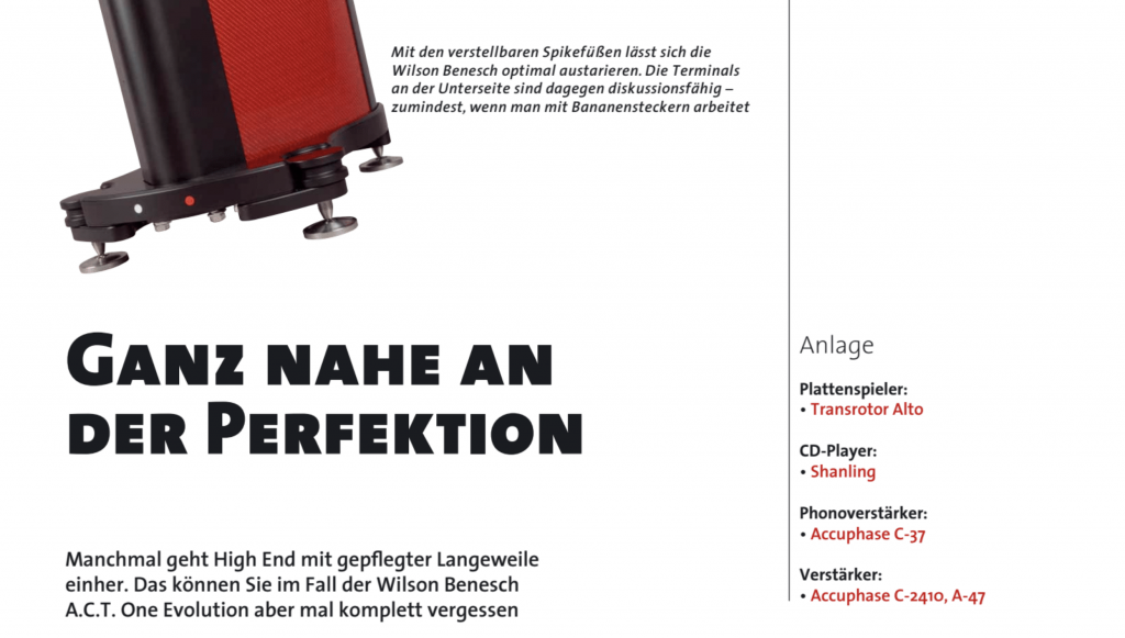 LP Magazin test Wilson Benesch ACT ONE Evolution