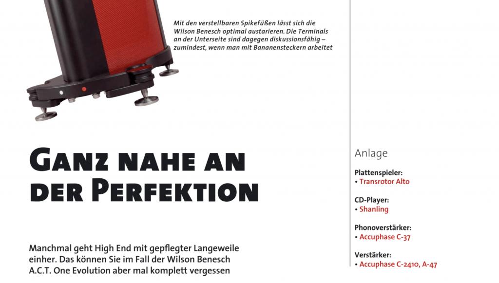 LP Magazin test Wilson Benesch ACT ONE Evolution