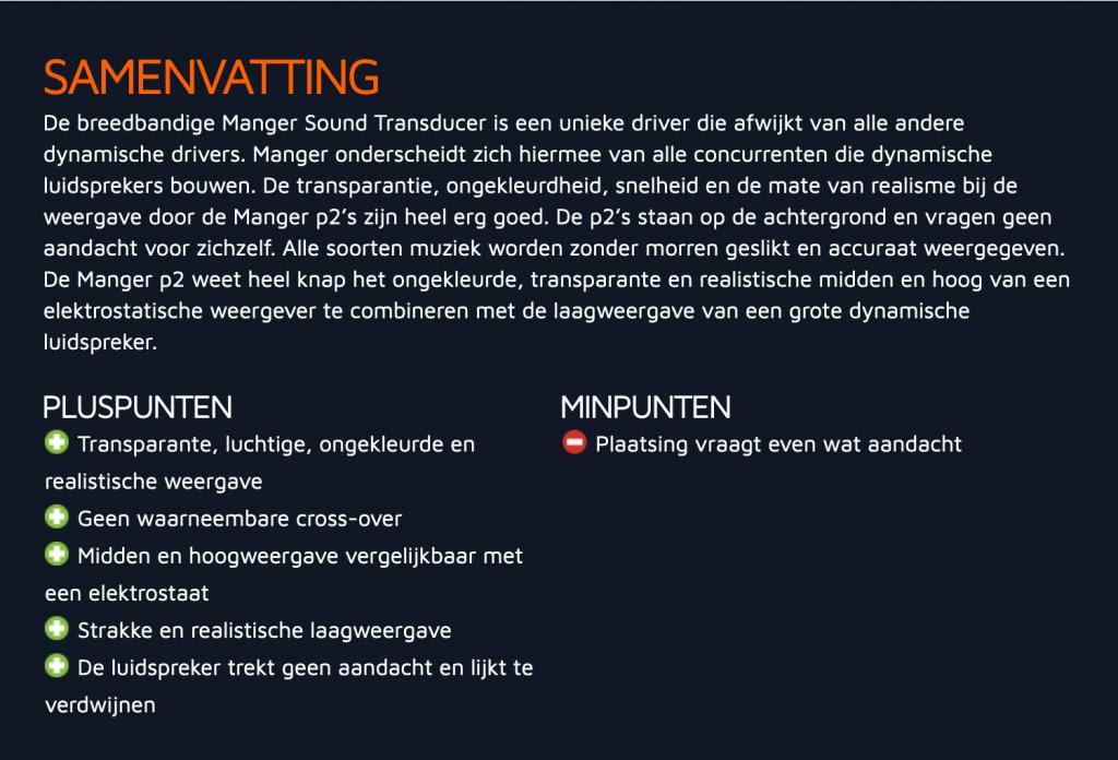 Hifi.nl test Manger p2