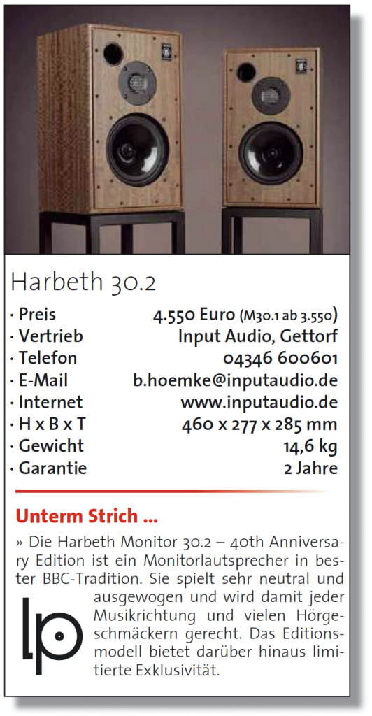 LP Magazin test Harbeth M30.2 - fazit