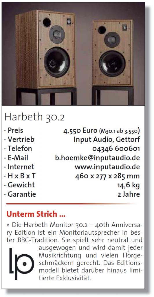 LP Magazin test Harbeth M30.2 - fazit