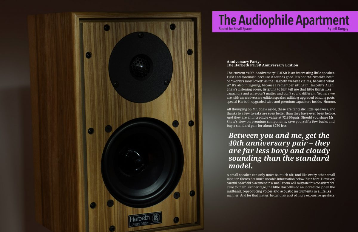 ToneAudio test Harbeth P3ESR 40th Anniversary