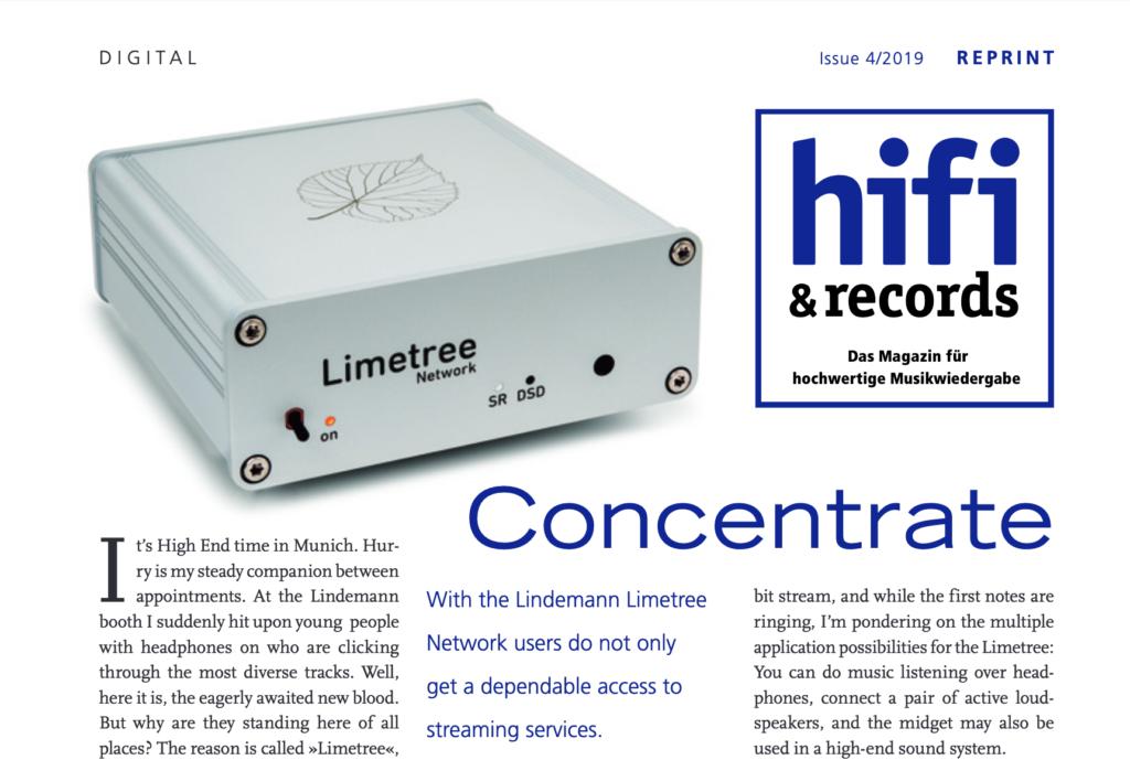 Hifi & Records test Lindemann Limetree Network