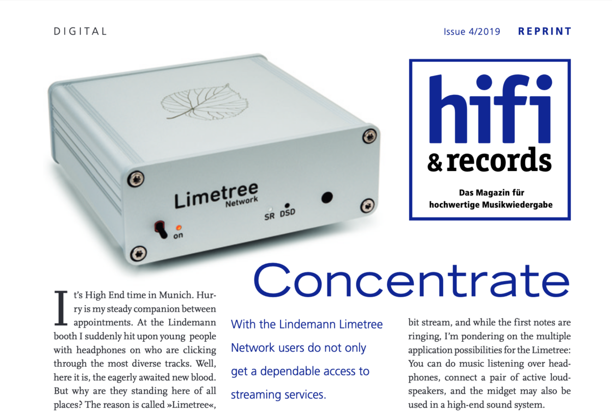 Hifi & Records test Lindemann Limetree Network